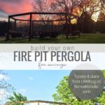 DIY Backyard Pergola With Swings Around Fire Pit Remodelaholic