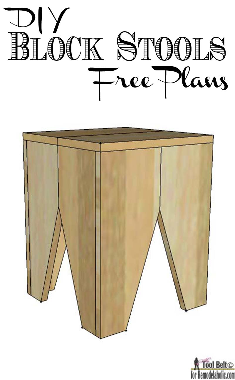 remodelaholic diy modern natural wood block stools build a modern block stool with these easy and free plans