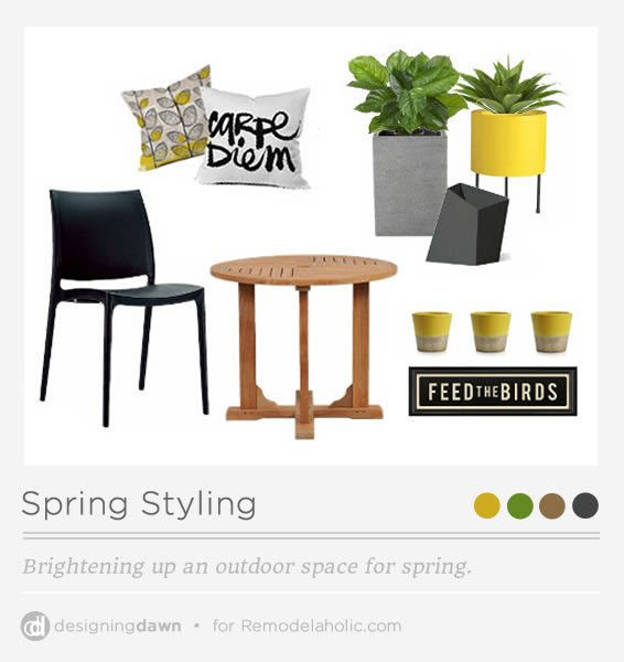 Designing Dawn for Remodelaholic -Spring Styling Pinnable Image