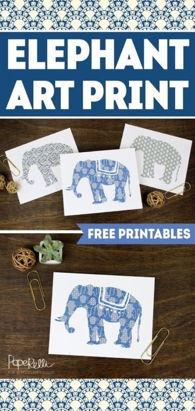 Elephant Art Prints   designed by Paperelli for Remodelaholic.com