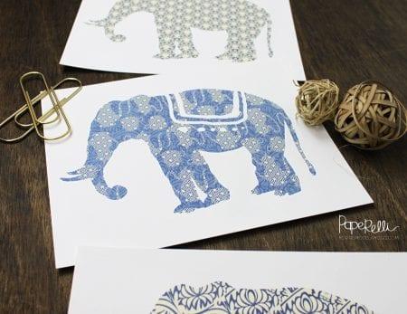 Elephant Art Prints | designed by Paperelli for Remodelaholic.com