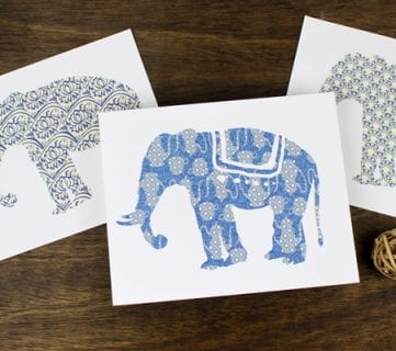 Free Printable: Elephant Art Prints