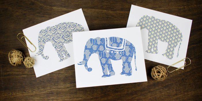 Free Printable: Elephant Art Prints