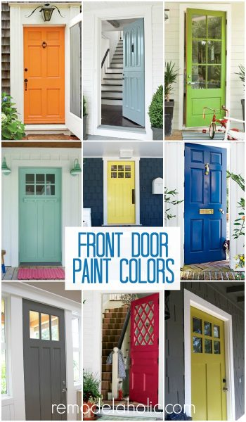 Front Door Paint Colors @Remodelaholic