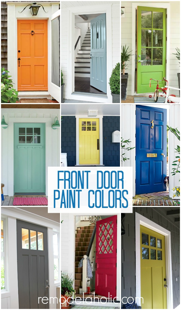 Front Door Paint Colors Remodelaholic