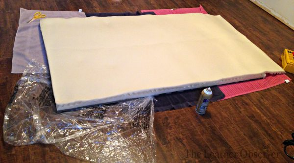 diy tufted leather headboard tutorial - foam
