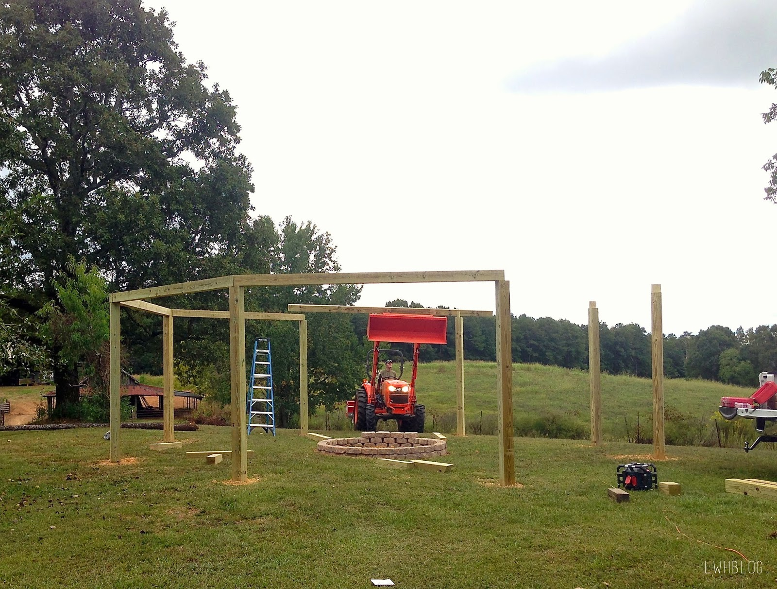 How To Build A Pergola And Fire Pit By Little White House Blog Featured On @