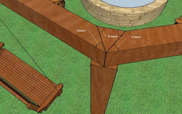 How to Build a Pergola with Swings by Little White House Blog featured on @Remodelaholic