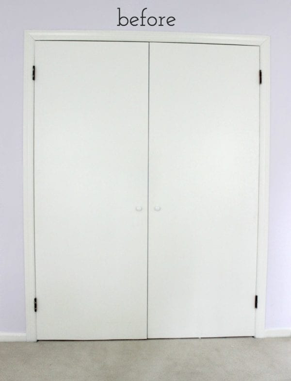 How to Update Plain Closet Doors by Driven by Decor featured on Remodelaholic
