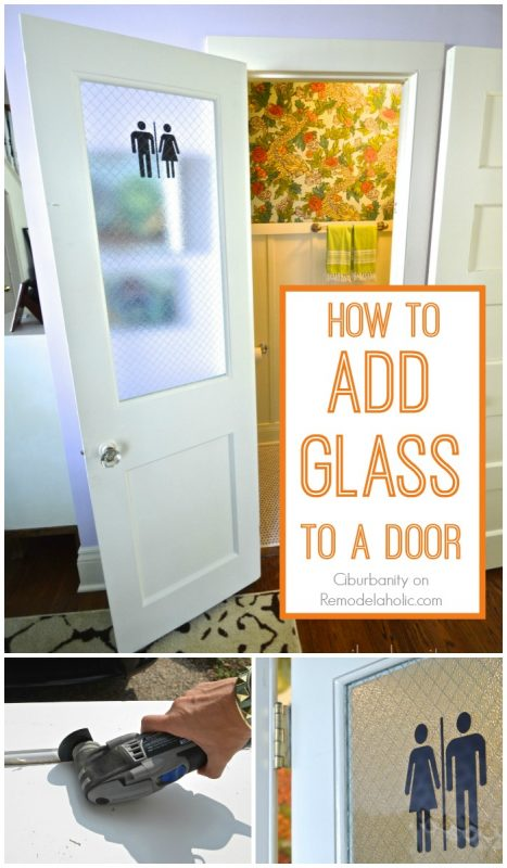 How to add glass to a door Ciburbanity on @Remodelaholic
