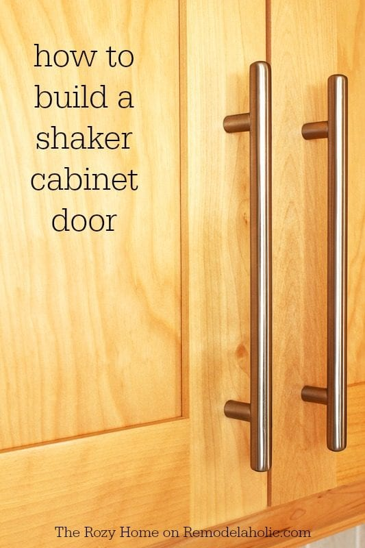 How to build a shaker cabinet door -- not as difficult as it looks! @Remodelaholic