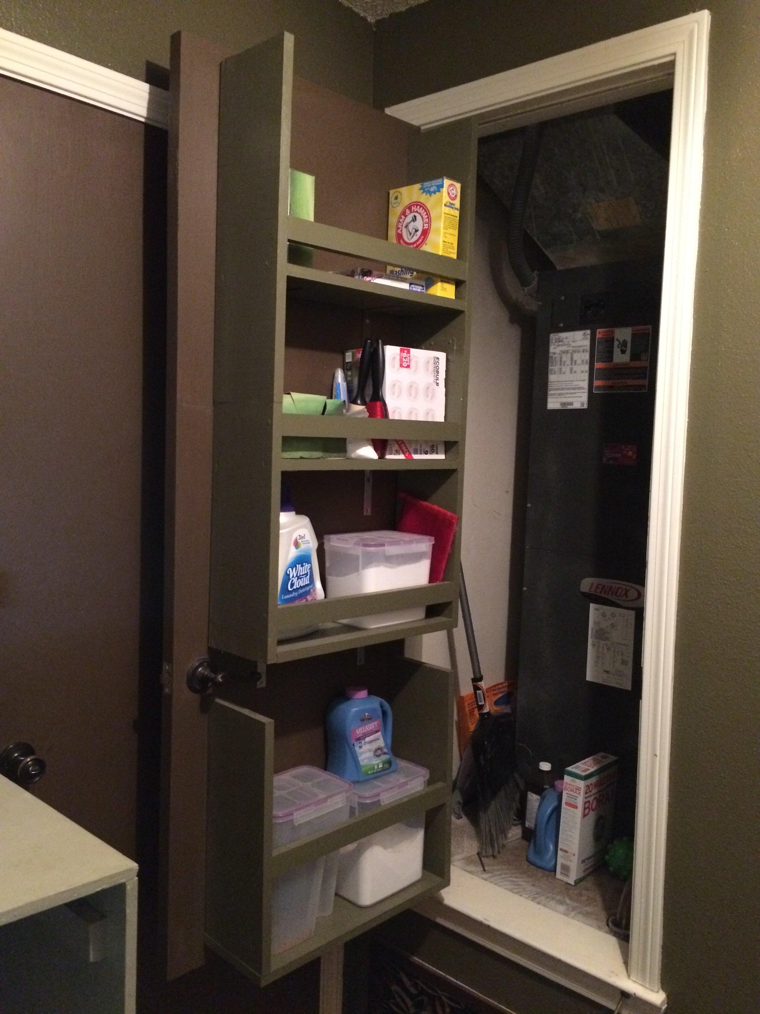 Remodelaholic   Build an Organized Back of Door Shelf