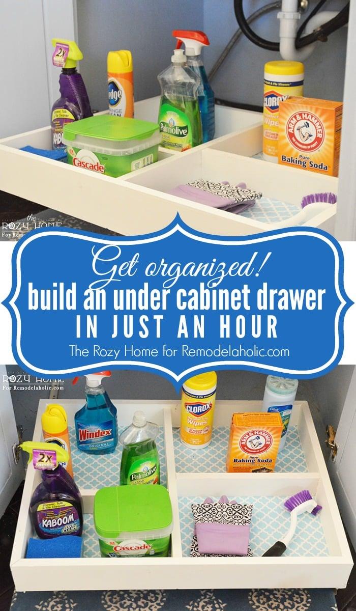 Remodelaholic | Easy Slide-Out Under Cabinet Storage Drawers