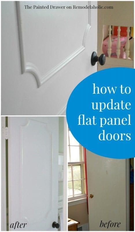 make a flat door look like a paneled door remodelaholic bloglovin. Black Bedroom Furniture Sets. Home Design Ideas