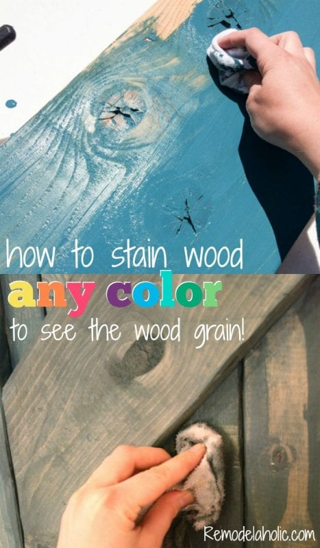 Color Washing Paint Technique for Keeping Wood Grain Visible!