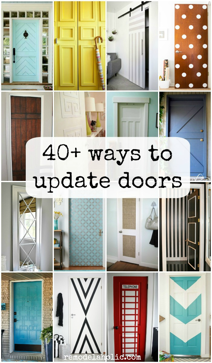 remodelaholic | 40+ ways to update flat doors and bifold doors
