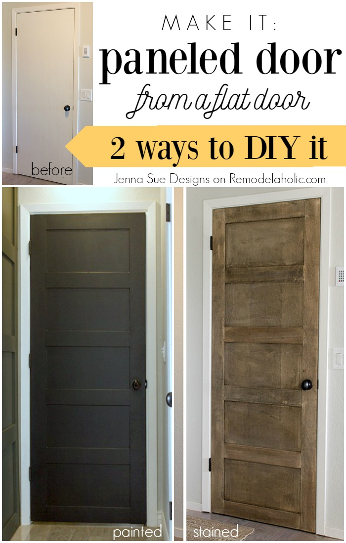 Make A 5 Panel Door From A Flat Door   Jenna Sue Designs On @Remodelaholic