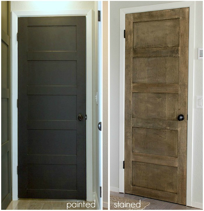 Remodelaholic 40 ways to update flat doors and bifold doors for Diy interior door designs