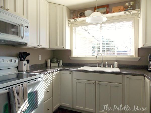 Unique Painted Kitchen Cabinets by The Palette Muse featured on Remodelaholic