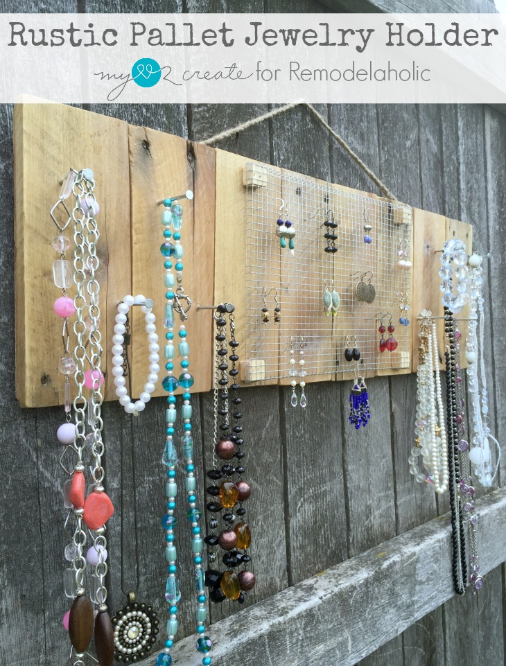 Rustic Pallet Jewelry Holder -- so easy, but exactly what I need to organize my jewelry