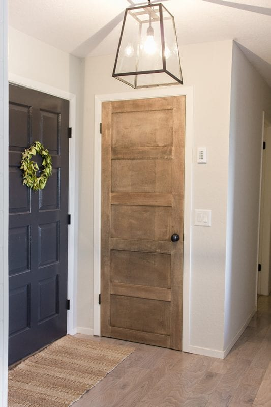 Wooden 5 Panel Door DIY by Jenna Sue Design Co featured on @Remodelaholic