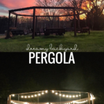 Backyard Pergola Swing Set Around A Fire Pit, Plans And Tutorial LWHBlog For Remodelaholic