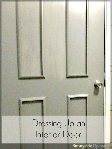 basic 4 rectangle panel update on flat door - Sunnyside Upstairs