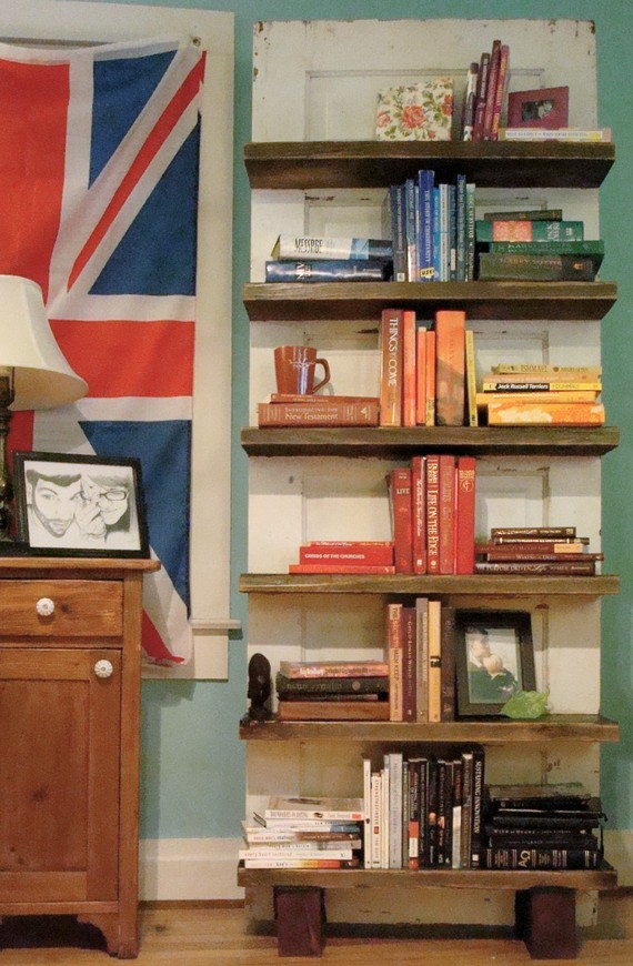 Bookshelf Etsy Fun Creative Old Door