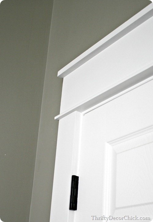chunky thick craftsman style door trim - Thrifty Decor Chick & Remodelaholic | Best DIY Door Tips: Installation Framing and Hardware