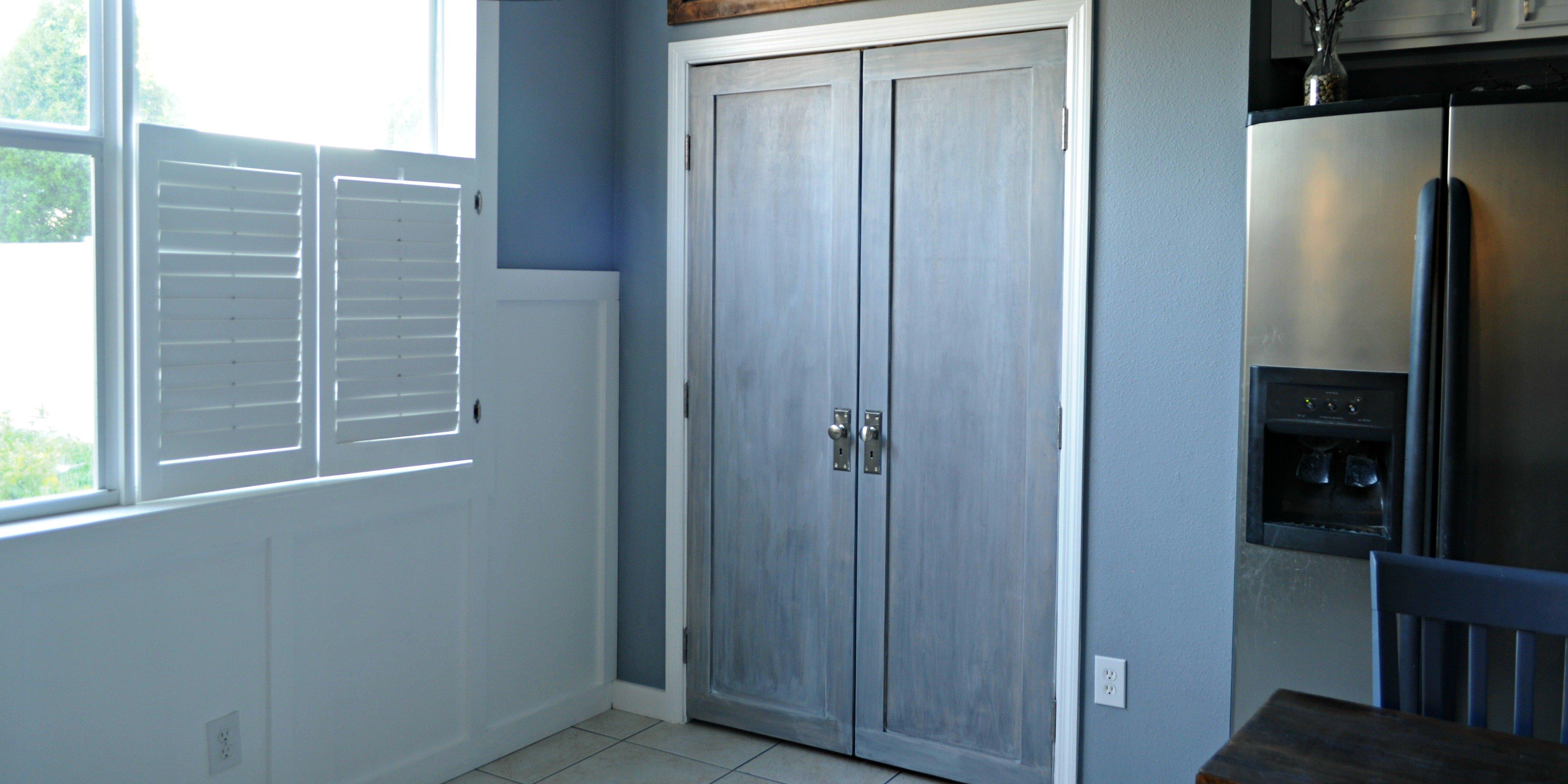 Remodelaholic | Bifold Door Makeover into French Doors