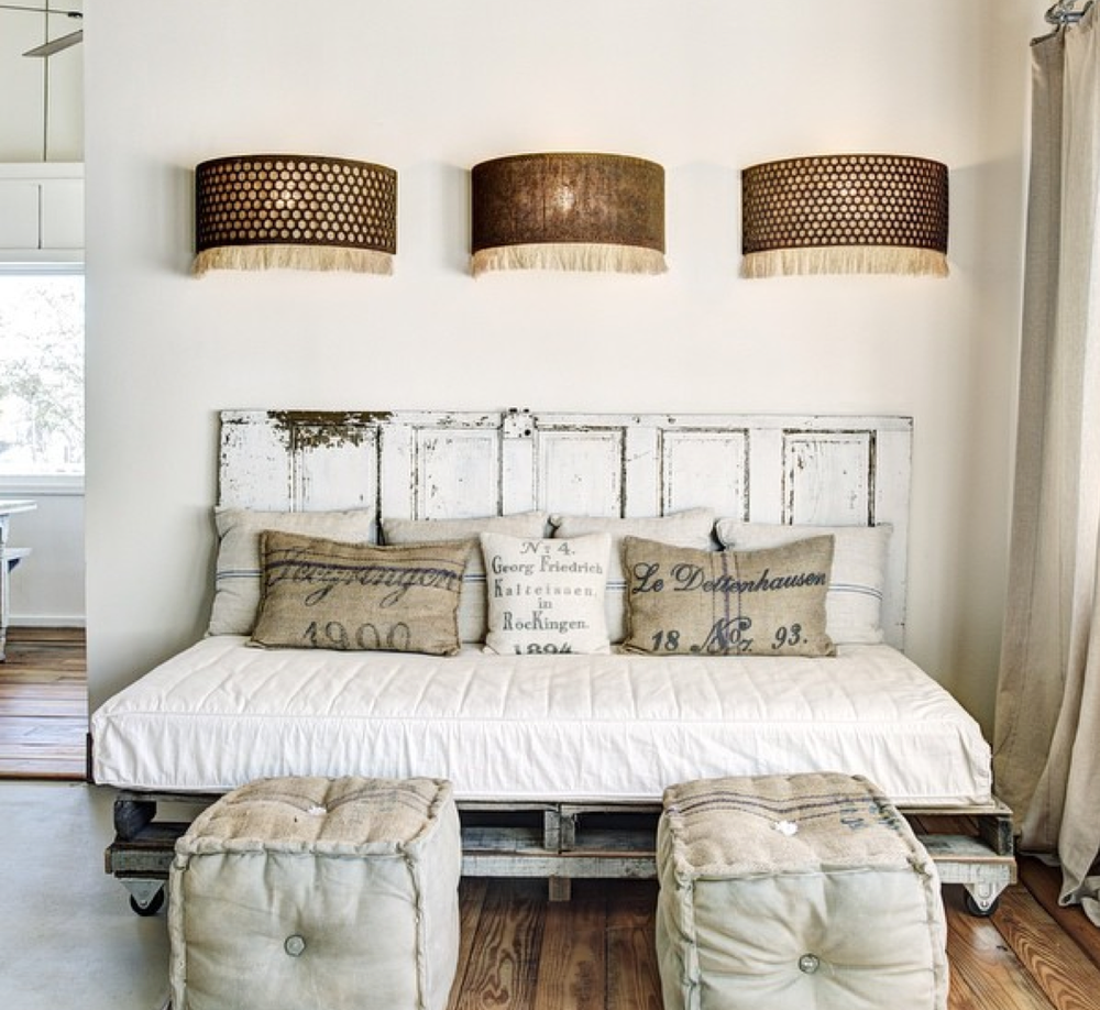 Headboard From Old Doors Remodelaholic  100 Ways To Use Old Doors