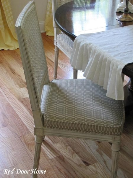 Dining Chair Painted Makeover Via @Remodelaholic · Cane Back ...