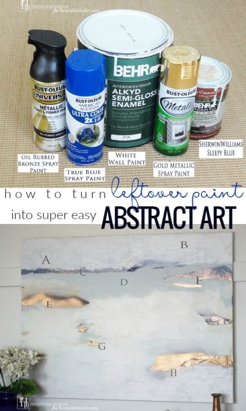 Diy Abstract Art From Leftover Paint And An Inexpensive Canvas @Remodelaholic