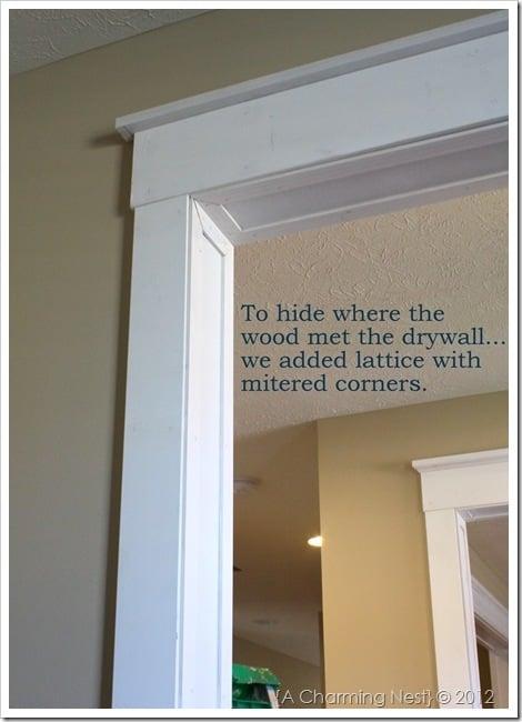 diy door casing tutorial - The Charming Nest