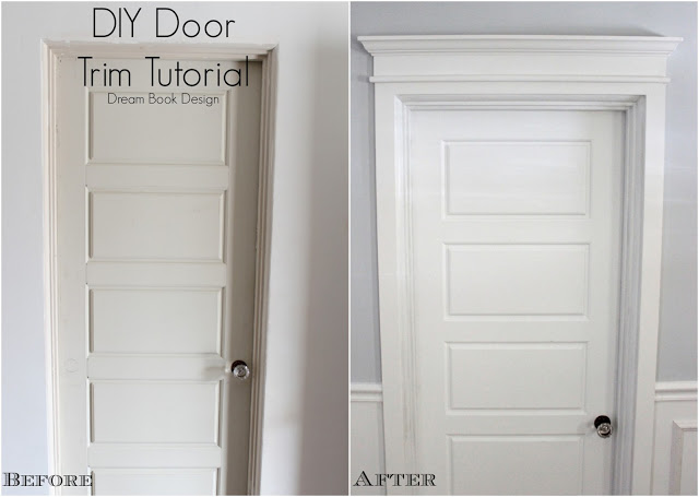 Remodelaholic best diy door tips installation framing for Door moulding