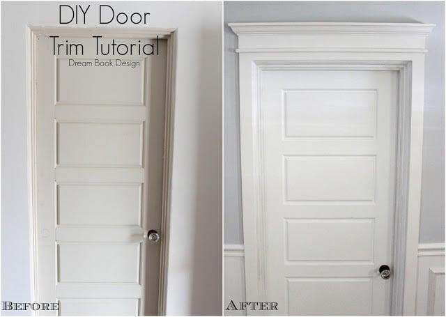 diy door trim tutorial dream book design - Door Frame Trim