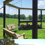 Diy Fire Pit Pergola With Swings, LWHBlog On Remodelaholic