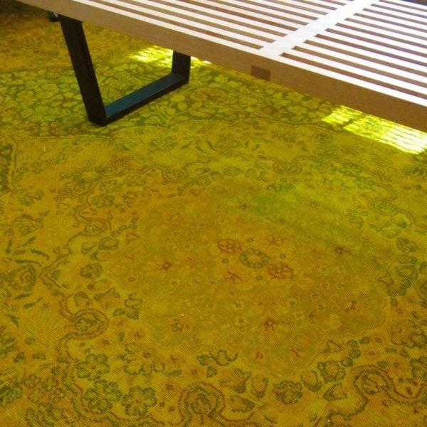 diy overdyed rug