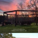 Diy Pergola Swing Set Plans Around Fire Pit Tutorial, LWHBlog On Remodelaholic