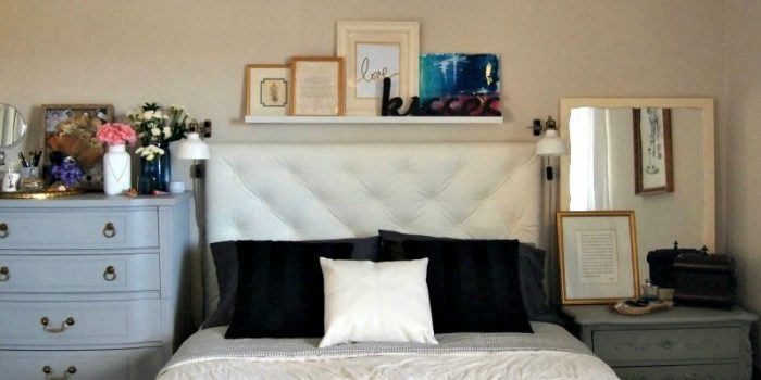 Make a Tufted Leather Headboard