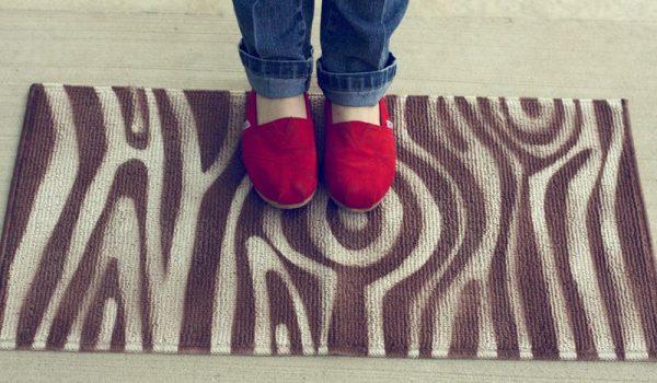 diy woodgrain rug