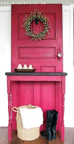remodelaholic 100 ways to use old doors. Black Bedroom Furniture Sets. Home Design Ideas