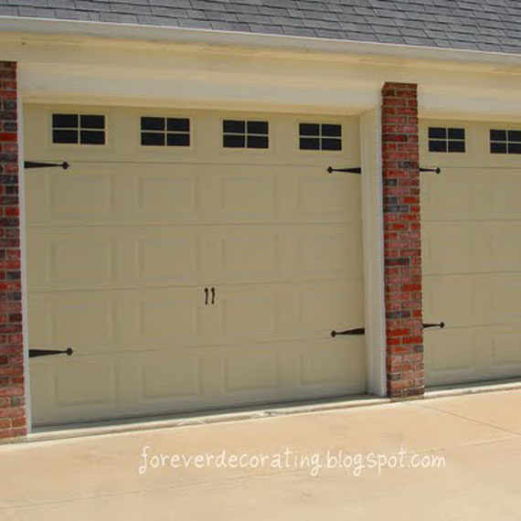 Remodelaholic 8 diy garage door updates for Faux paint garage door