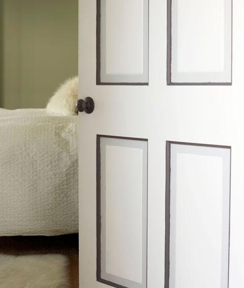remodelaholic 40 ways to update flat doors and bifold doors. Black Bedroom Furniture Sets. Home Design Ideas