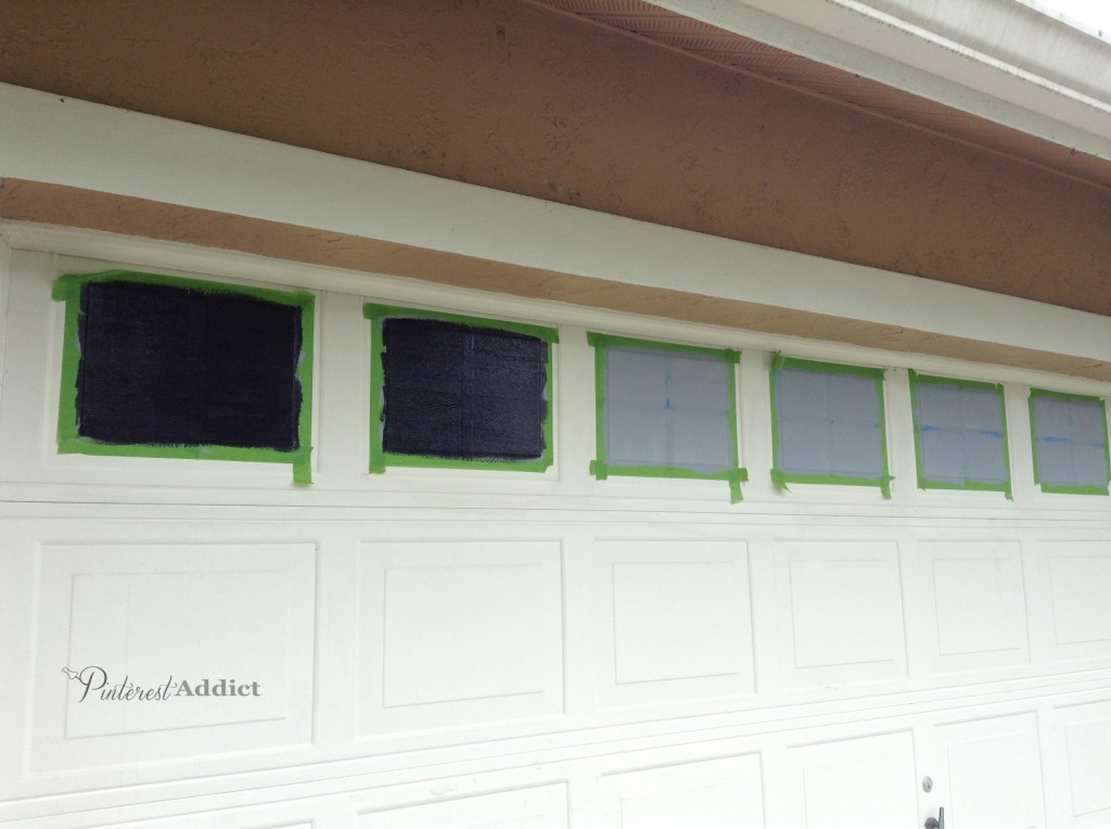 Remodelaholic 8 diy garage door updates for How to paint faux wood garage doors