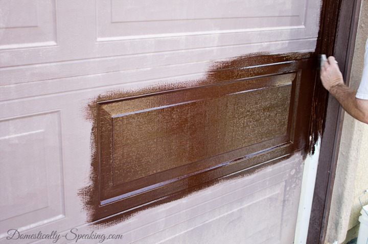 Remodelaholic 8 diy garage door updates for Faux wood doors