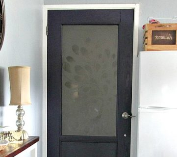 Building a Frosted Glass Pane Door