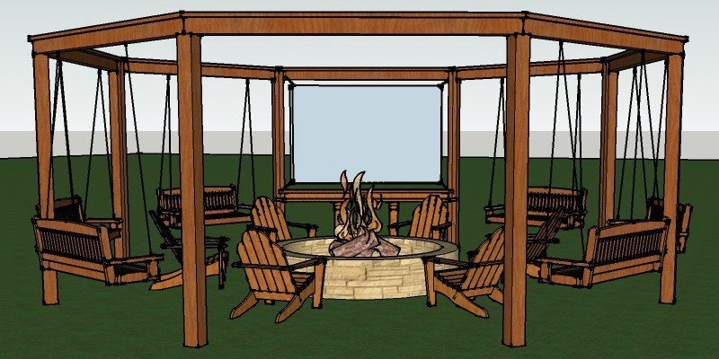 Tutorial: Build an Amazing DIY Fire Pit Pergola for Swings