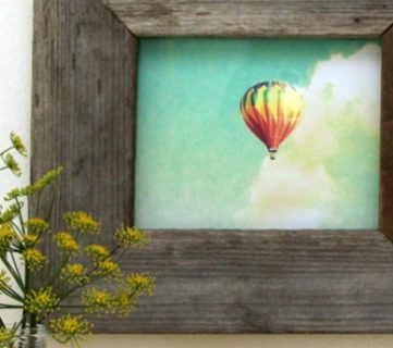 Easy Barn Wood Frame from An Old Picture Frame