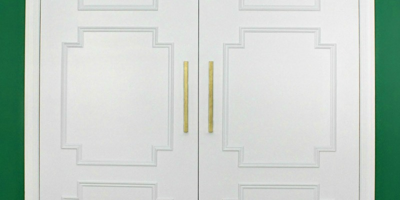 feature use molding to update flat doors
